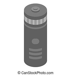 Sports thermos icon, isometric style