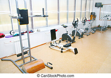 Sports training apparatus in exercise room