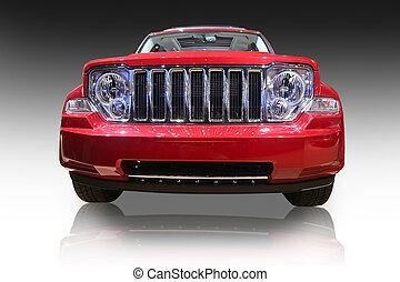 Sports Utility Vehicle - New sports utility vehicle isolated...