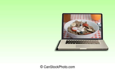 sports, vidéos, nourriture saine