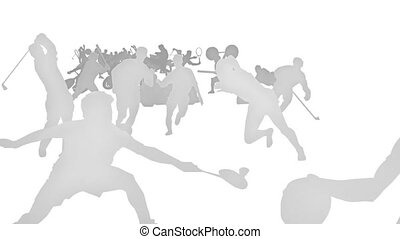 Sports - White silhouette sports.