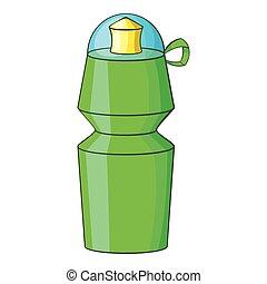 Sports water bottle icon, cartoon style
