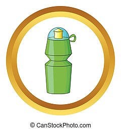 Sports water bottle vector icon