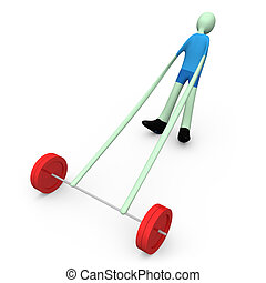 Sports - Weight-lifting #3 - Computer generated image -...