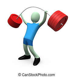 Sports - Weight-lifting #4 - Computer generated image -...