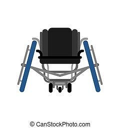 Sports wheelchair isolated. Disabled Sports. Medical vector illustration