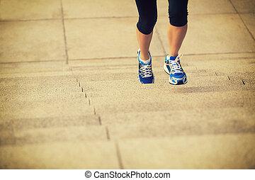 sports woman running