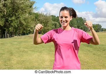 Sports Woman Win
