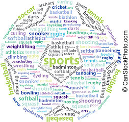 Sports Words - World Sports Words - Football Ball Shape