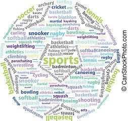 Sports Words - World Sports Words - Football Ball Shape