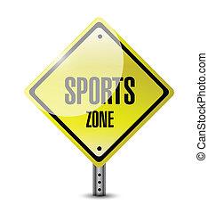 sports zone sign illustration design