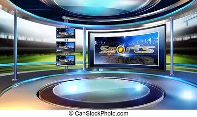 sports_set - Virtual set studio for chroma footage Realize...