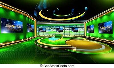 Sports_Vset1 - Virtual set studio for chroma footage Realize...