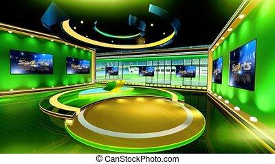 Sports_Vset2 - Virtual set studio for chroma footage Realize...