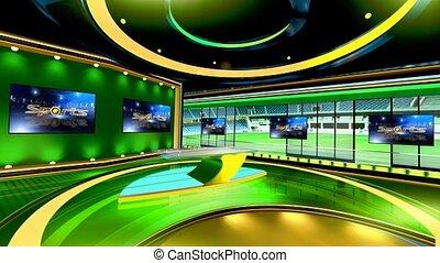 Sports_Vset3 - Virtual set studio for chroma footage Realize...