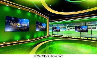 Sports_Vset7 - Virtual set studio for chroma footage Realize...