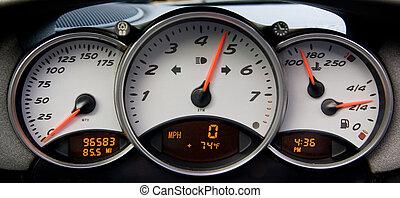 sportscar, 計器盤
