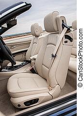 sportscar, couro, motorista, luxo, assentos