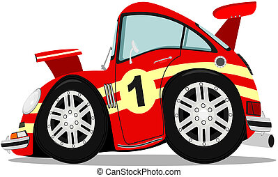 Sportscar - 	Funny sports car after heavy braking.