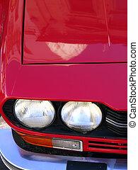 sportscar, ikonszerű, olasz