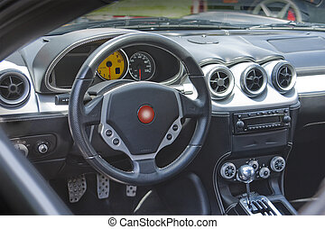 sportscar, instrumentbräda