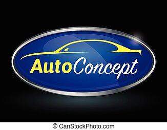 Sportscar vehicle logo silhouette - Conceptual automotive...