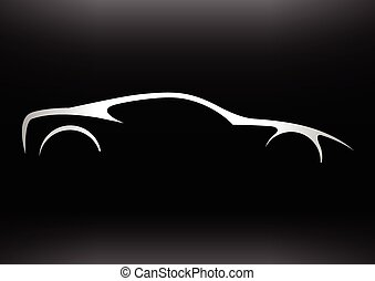 Sportscar vehicle Silhouette - Concept supercar vehicle...