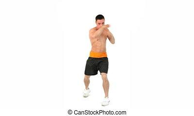Sportsman boxing