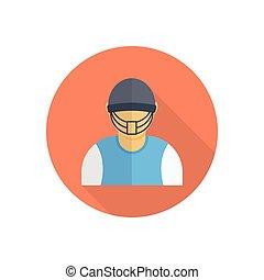 sportsman  flat color icon