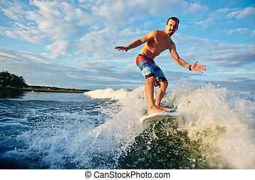 Sportsman in the sea