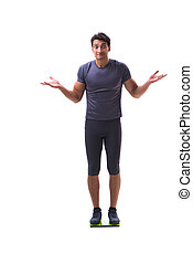 Sportsman isolated on the white background
