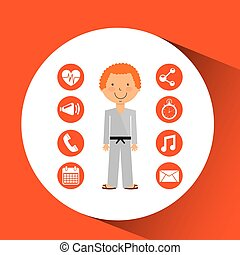 sportsman karate fight apps icons
