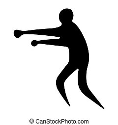 Sportsman man boxer on a white background