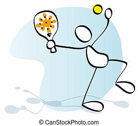 sportsman playing tennis or padel