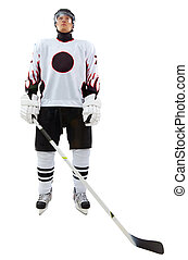 Sportsman - Portrait of healthy sportsman in hockey uniform...