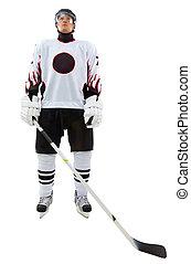 Sportsman - Portrait of healthy sportsman in hockey uniform...