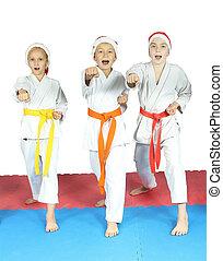 Sportsmen in the karategi