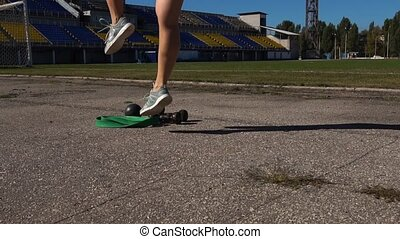 Sportswoman Doing Lunges During Workout