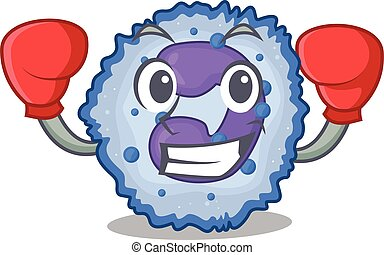 Sporty Boxing basophil cell mascot character style. Vector ...