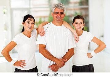sporty, família, três