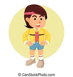sporty girl illustration design