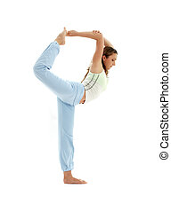natarajasana lord of the dance pose - sporty girl practicing...