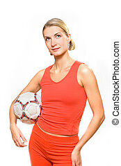 Sporty girl with a ball