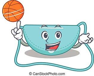 sporty, podwieszka, rysunek, torba, koszykówka, projektować...