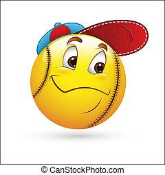 Sporty Smiley Emoticon Face Vector