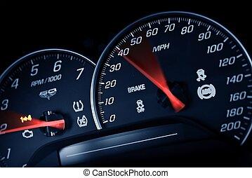 Sporty Speedometer. Sports Car Instruments Dash/Panel ...