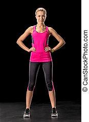 Sporty woman in sportswear