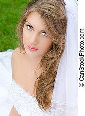 sposa, attraente