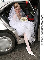 sposa, automobile