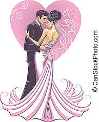 sposa, e, fidanzato
